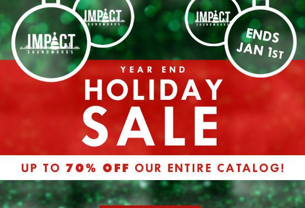 Impact Sound Worksがほぼ全プラグイン年末セール中!