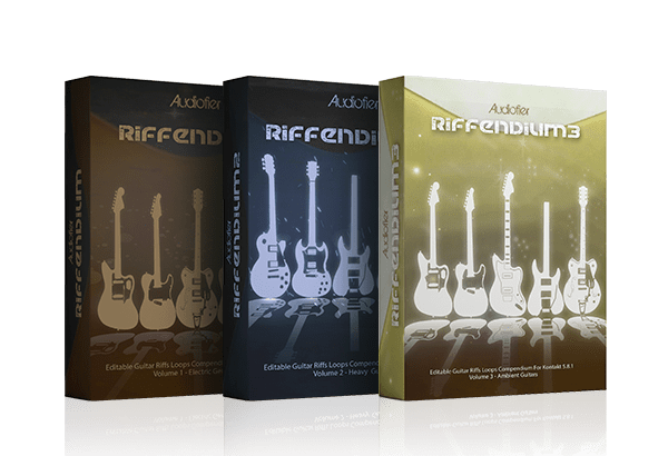 Audiofier社より『Riffendium』シリーズ…生きたギターのループライブラリー